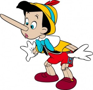 Pinocchio's with extended nose