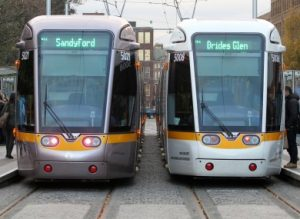 Two Luas Parked
