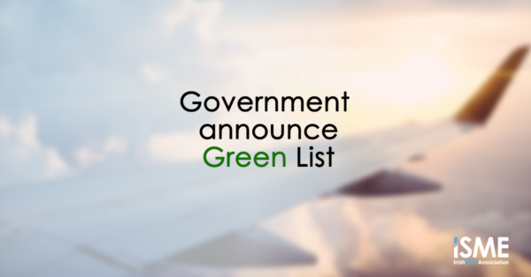 Ireland announce 'green list'